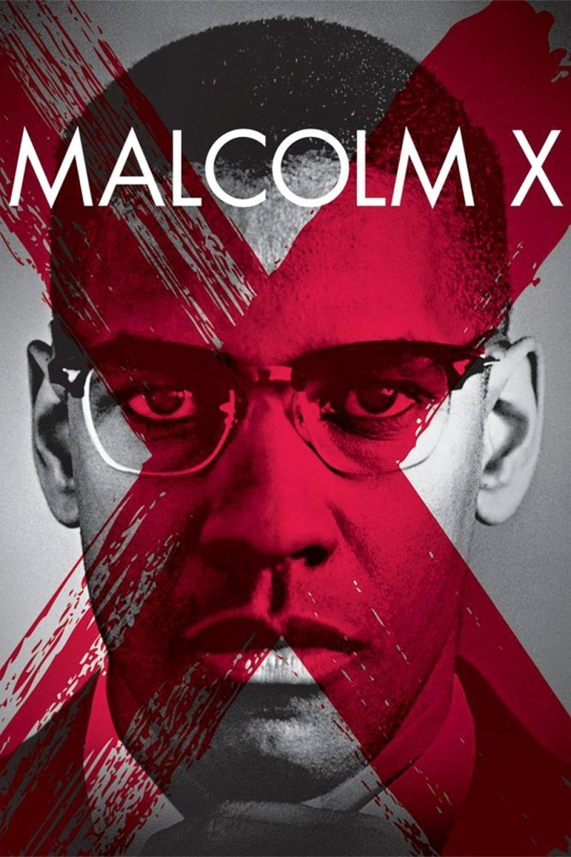 "Poster for the movie ""Malcolm X"""