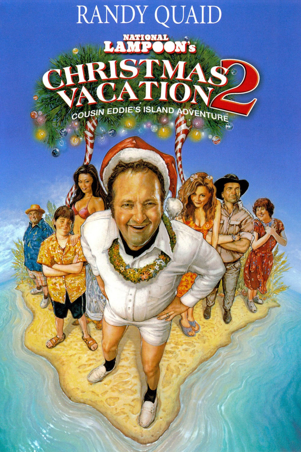 "Poster for the movie ""Christmas Vacation 2: Cousin Eddie's Island Adventure"""