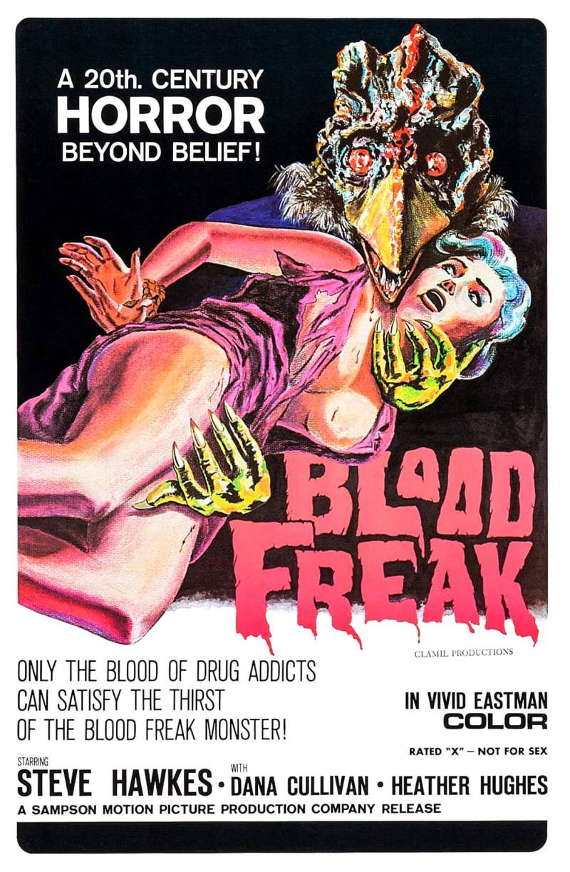 "Poster for the movie ""Blood Freak"""