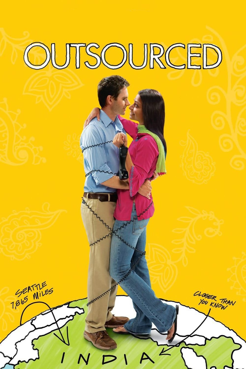 "Poster for the movie ""Outsourced"""