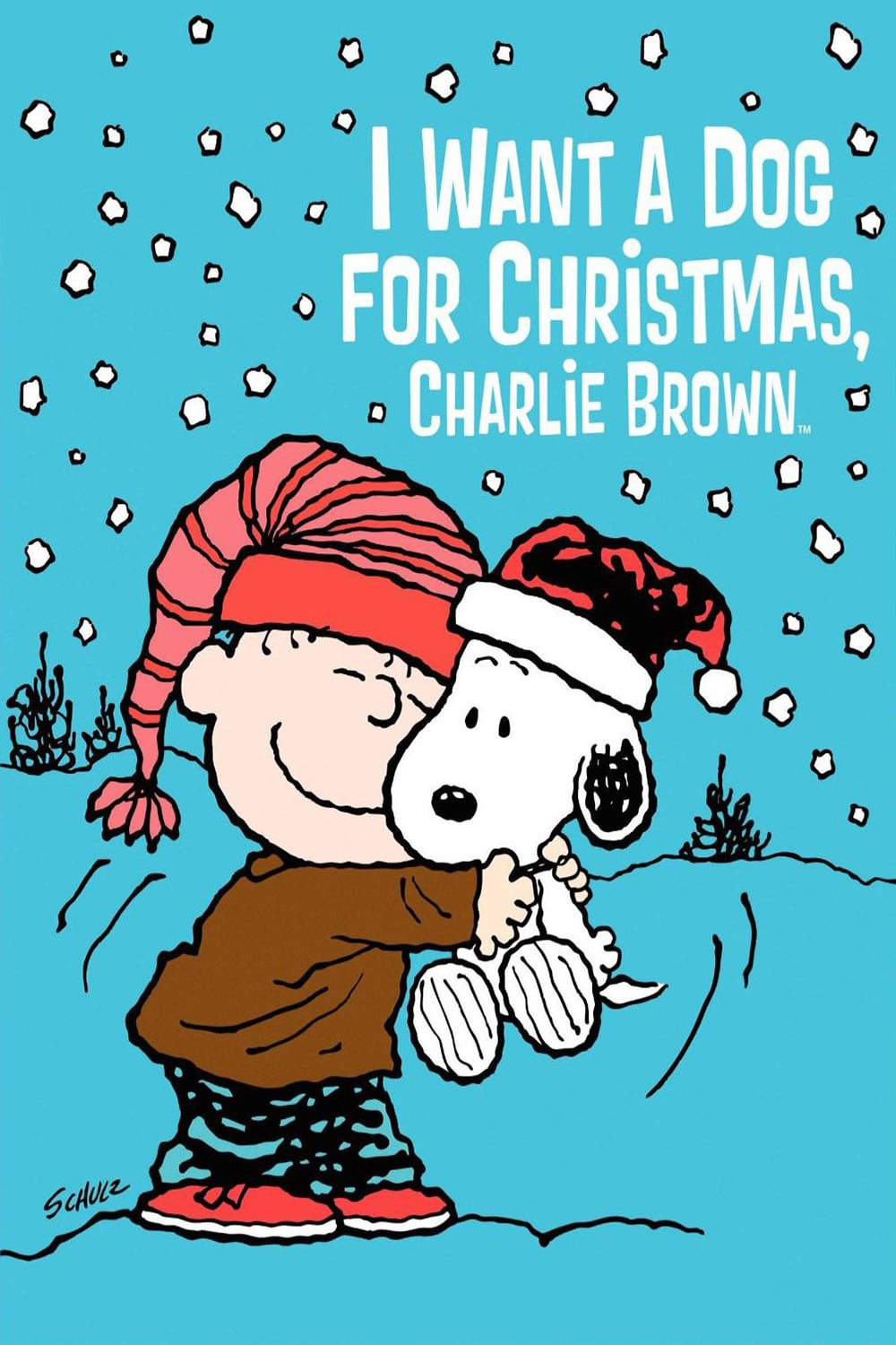 "Poster for the movie ""I Want a Dog for Christmas, Charlie Brown"""