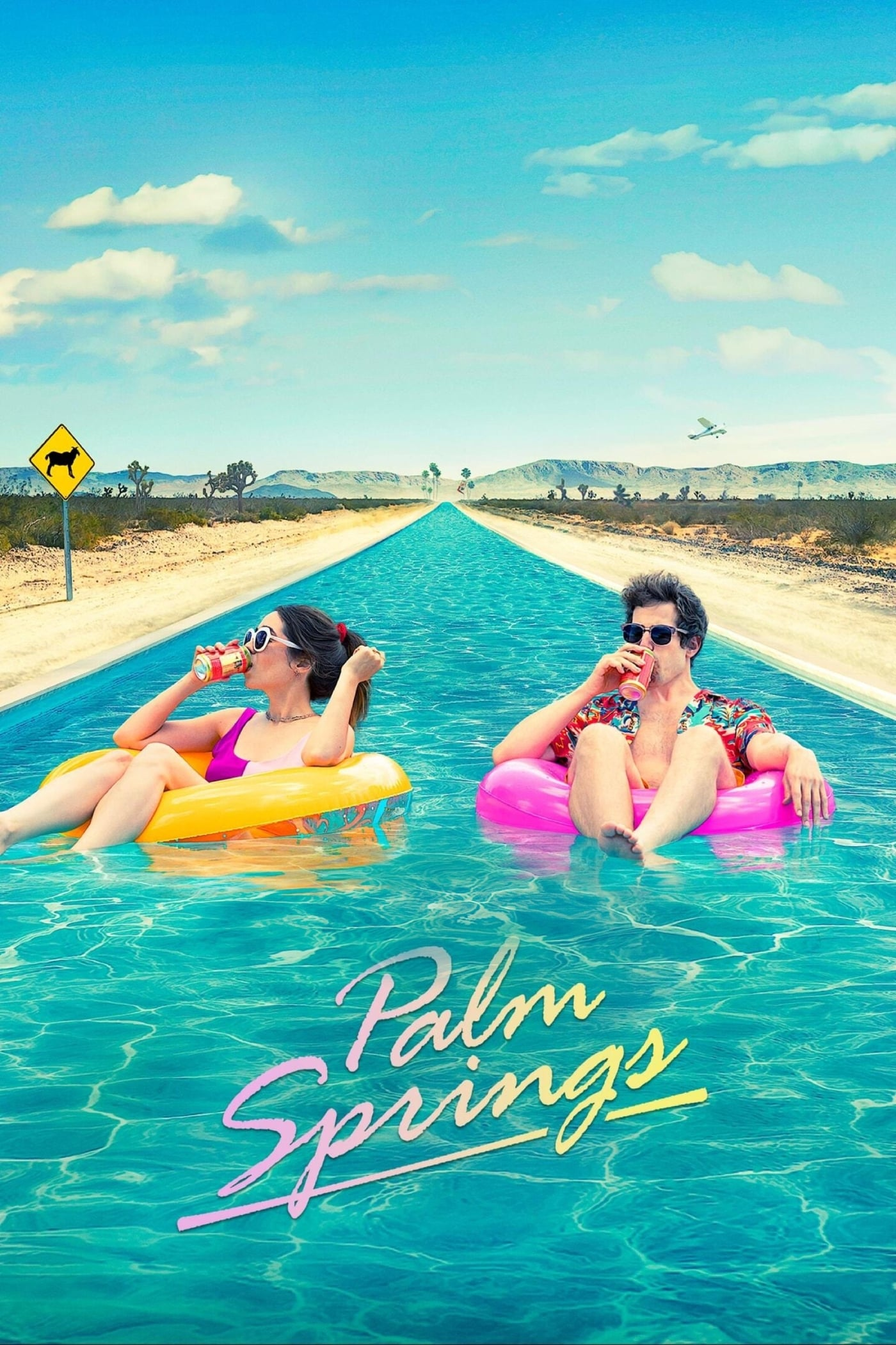 "Poster for the movie ""Palm Springs"""