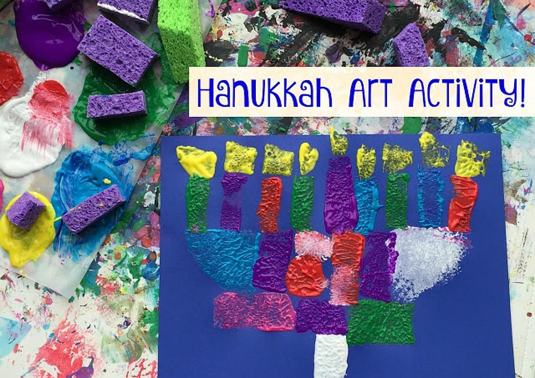 8 Nights Of Kids Hanukkah Art