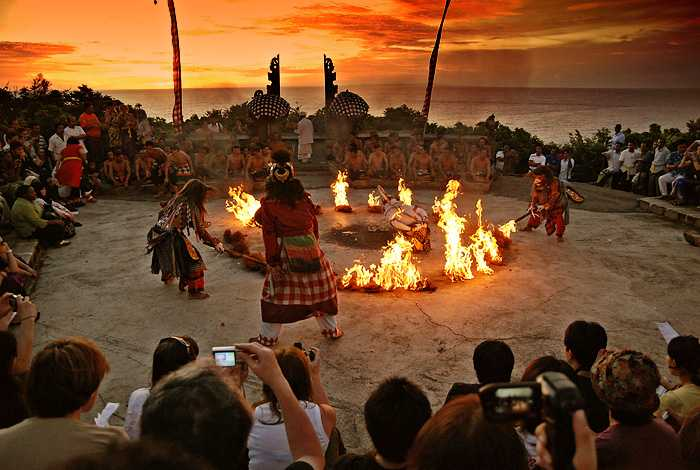 Kecak Dance of Bali, the Popular Fire Dance Performed for Tourists