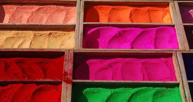 Colour Powder at Holi Rave