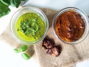 Basilikum Pesto & Tomaten Pesto selbstgemacht