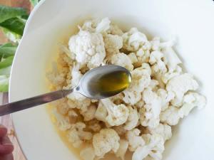 Blumenkohl Olivenöl Marinade