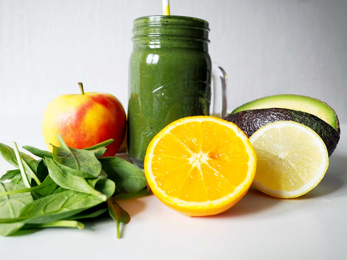 Grüner Smoothie & Obst
