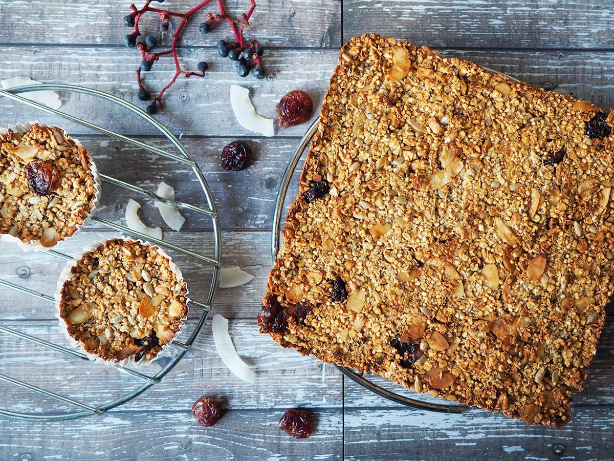 Müsliriegel selber machen: Power-Snack aus Hafer, Früchten & Nüssen