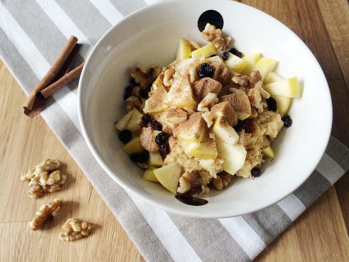 Protein Porridge Apfel-Zimt