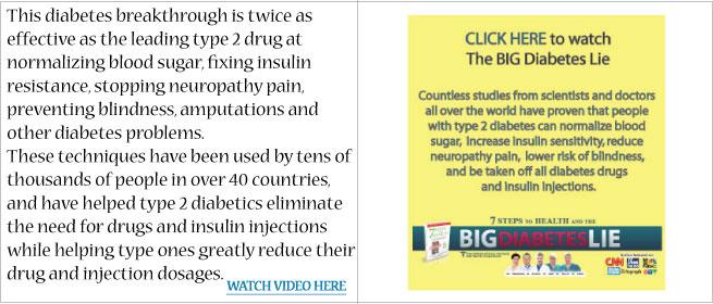 The Big Diabetes Lie Diabetes