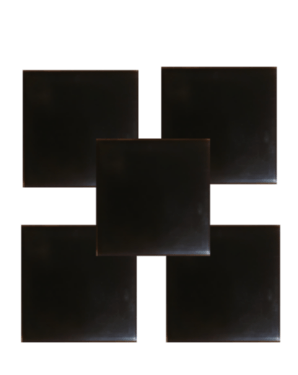 shungite orgonite tile plain design set of 5 Shungite Orgonite Tiles Plain