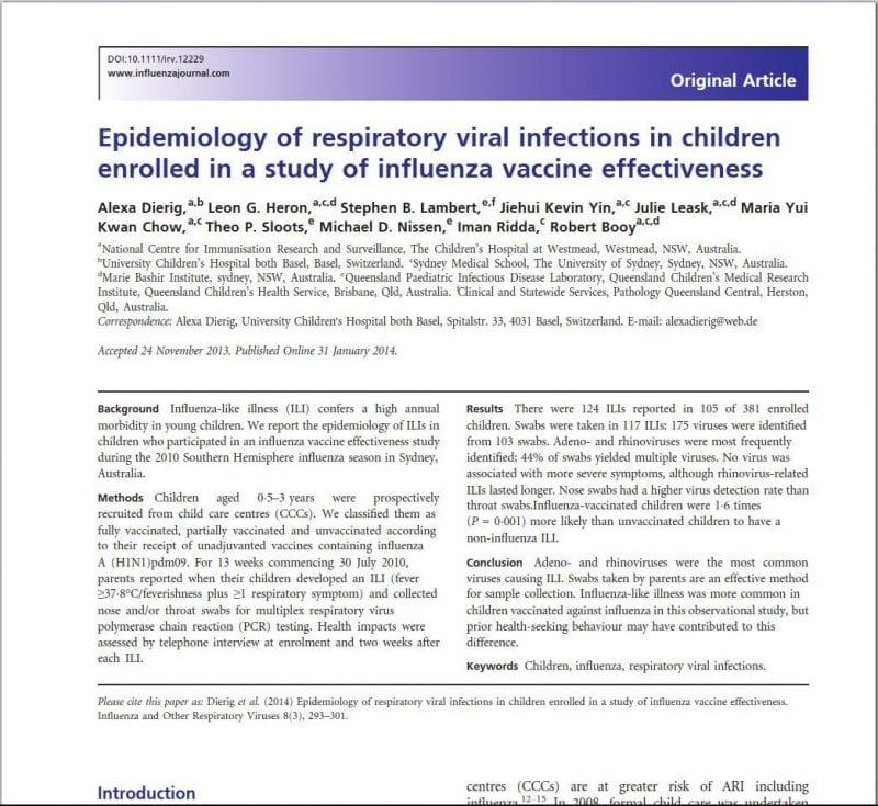 Epidemiology of respiratory viral infections in children e1587420154231 Pentagon Study: Flu Shot Raises Risk of Coronavirus by 36%