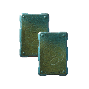 2 green shields Orgonite Phone Shields