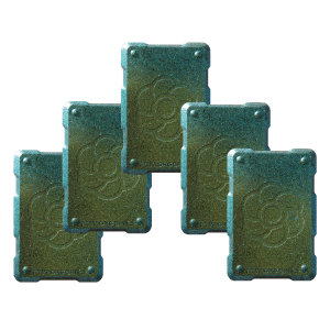 5 green shields Orgonite Phone Shields