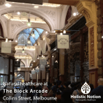 Photo of the block arcade foyer