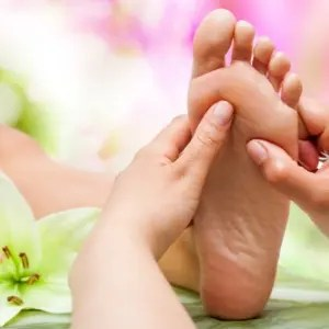 Reflexology for pain and stress management. reflexology and prescriptive aromatherapy
