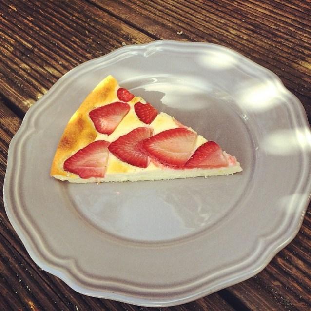 Erdbeer-Cheesecake fertig Stück 1