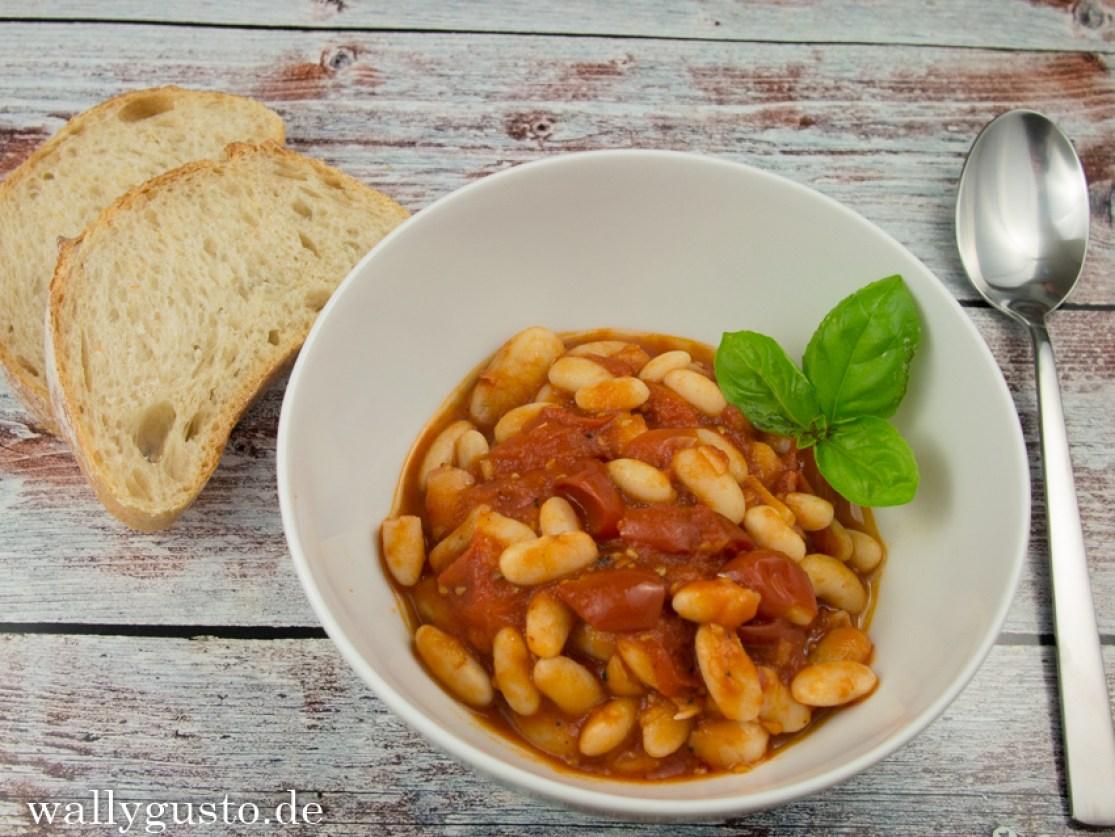 Bohnen in Tomatensauce ganz einfach
