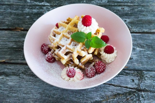 Cheesecake Waffeln Low Carb ohne Mehl