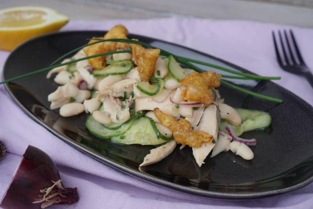 Geflügelsalat mit Cannellini Bohnen