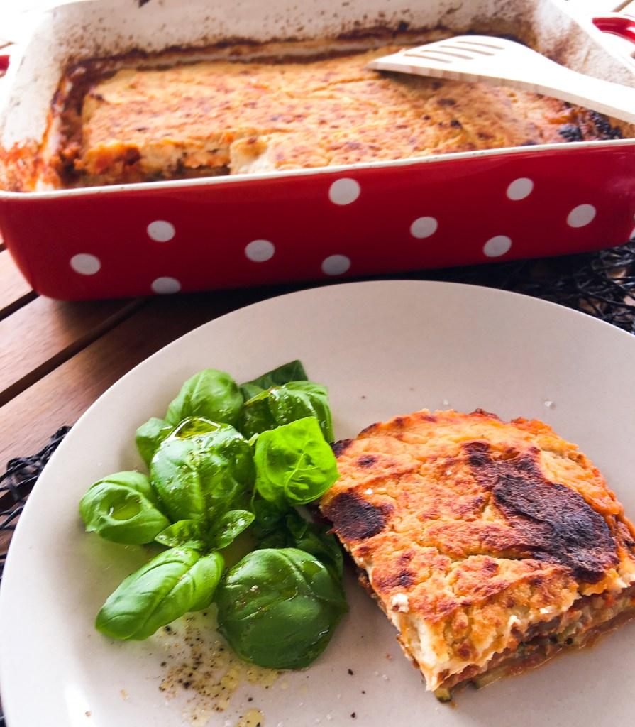 Diät Moussaka, low carb und vegetarisch