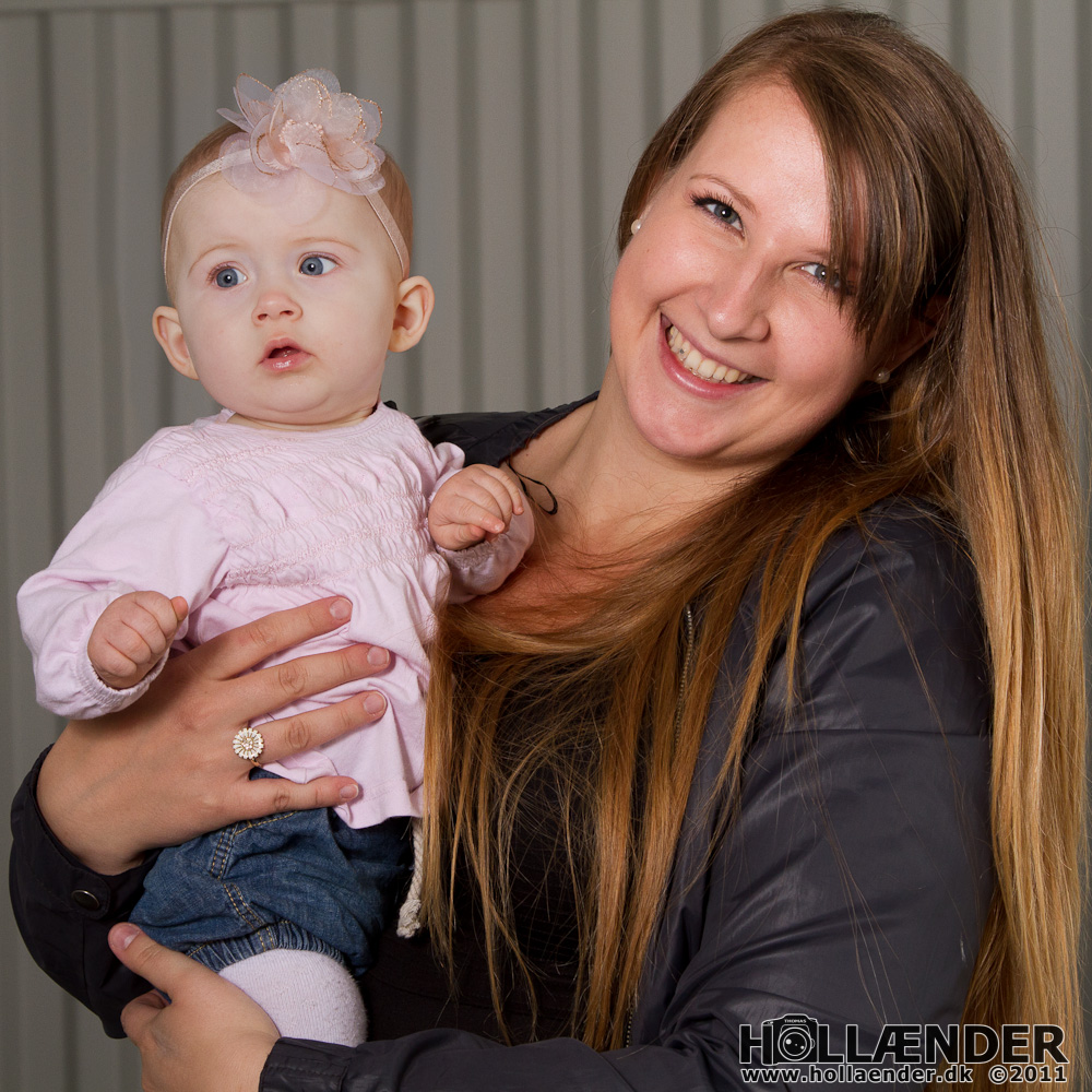 Model: Louise Borkfelt + datter - Foto: Thomas Hollænder