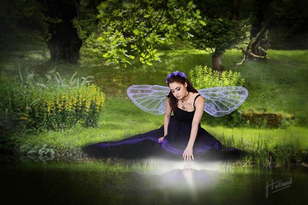Woodland Glade Fairy - an original fantasy art photo by Paul Holland