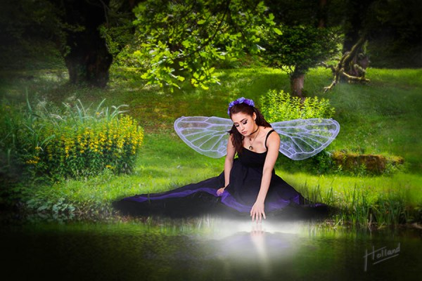 Woodland Glade Fairy - an original fantasy art photo by Paul Holland