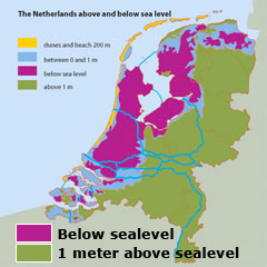 Image result for show levels of sea level in netherlands