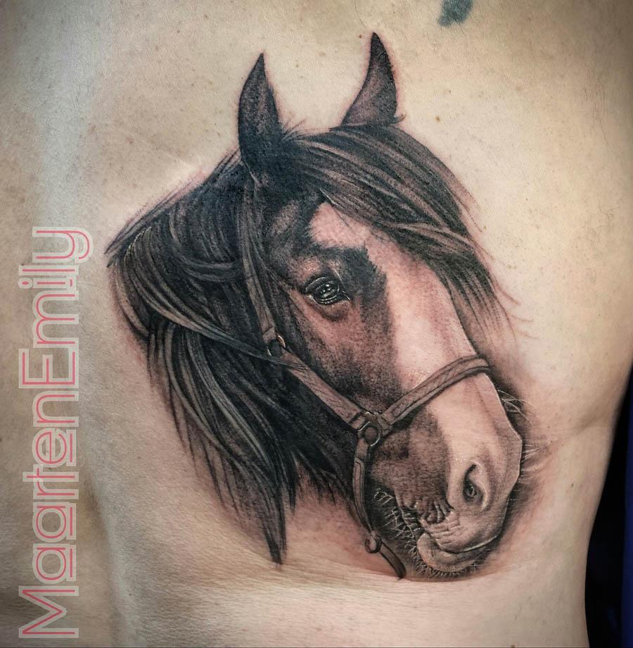 Paarden Portret Tatoeage Inkredible Ink Tattoonl