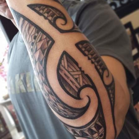 polynesische tribal tattoo