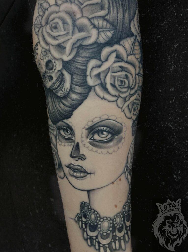 Day Of The Dead Girl Tatoeage Inkredible Ink Tattoonl