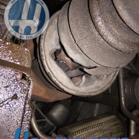 CV Axle boot torn