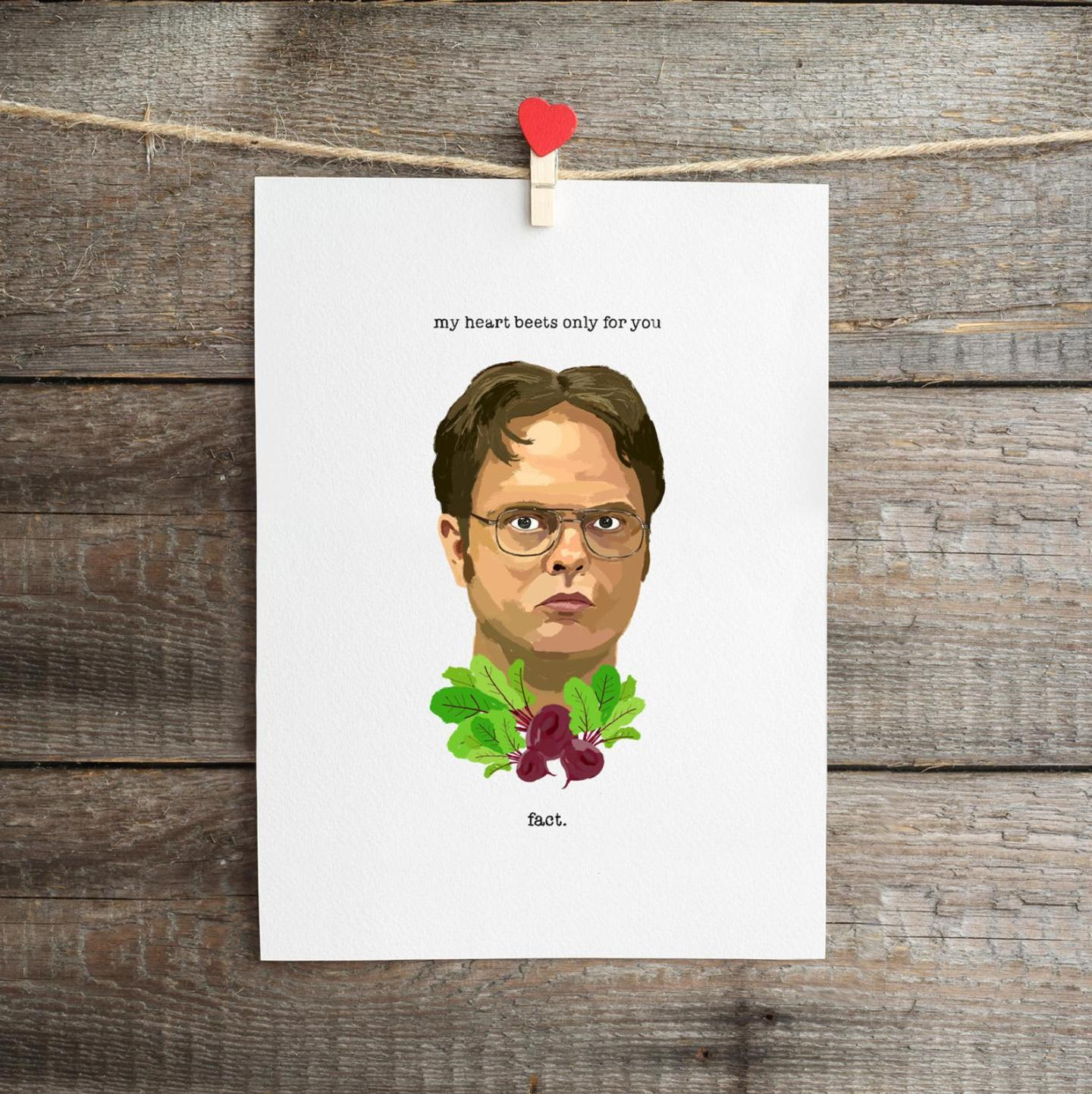 My Heart Beets For You Dwight The Office Card