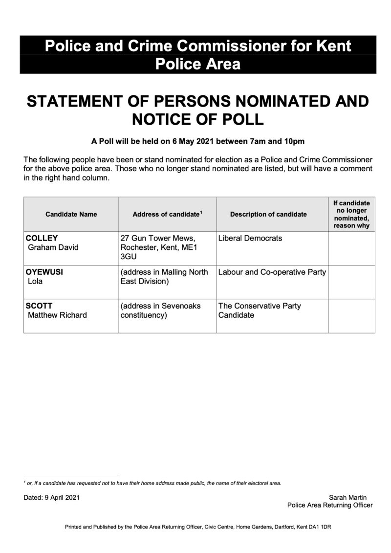 PCC Statement of Persons Nom and NOP