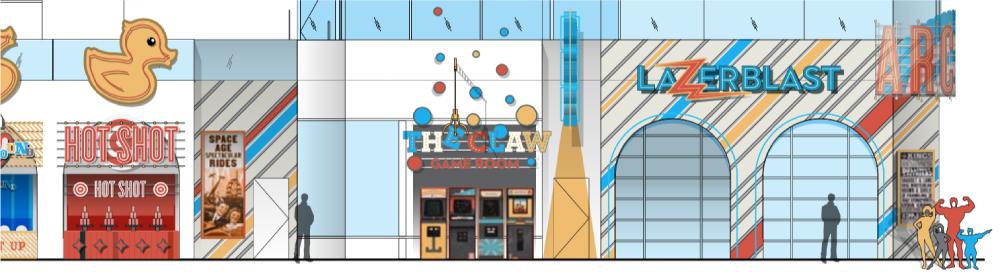 Belmont Park Arcade Exterior Elevation