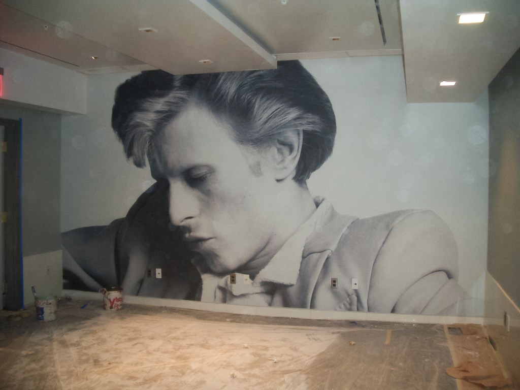 David Bowie Feature Wall Installation
