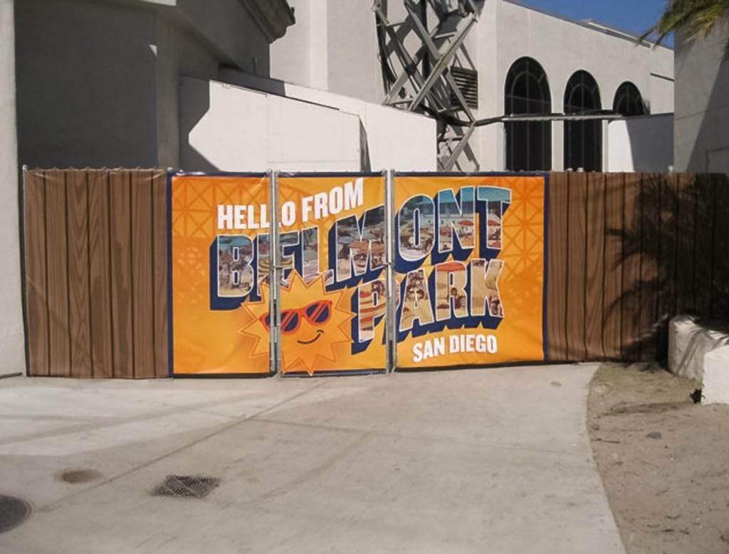Belmont Park Temporary Banner
