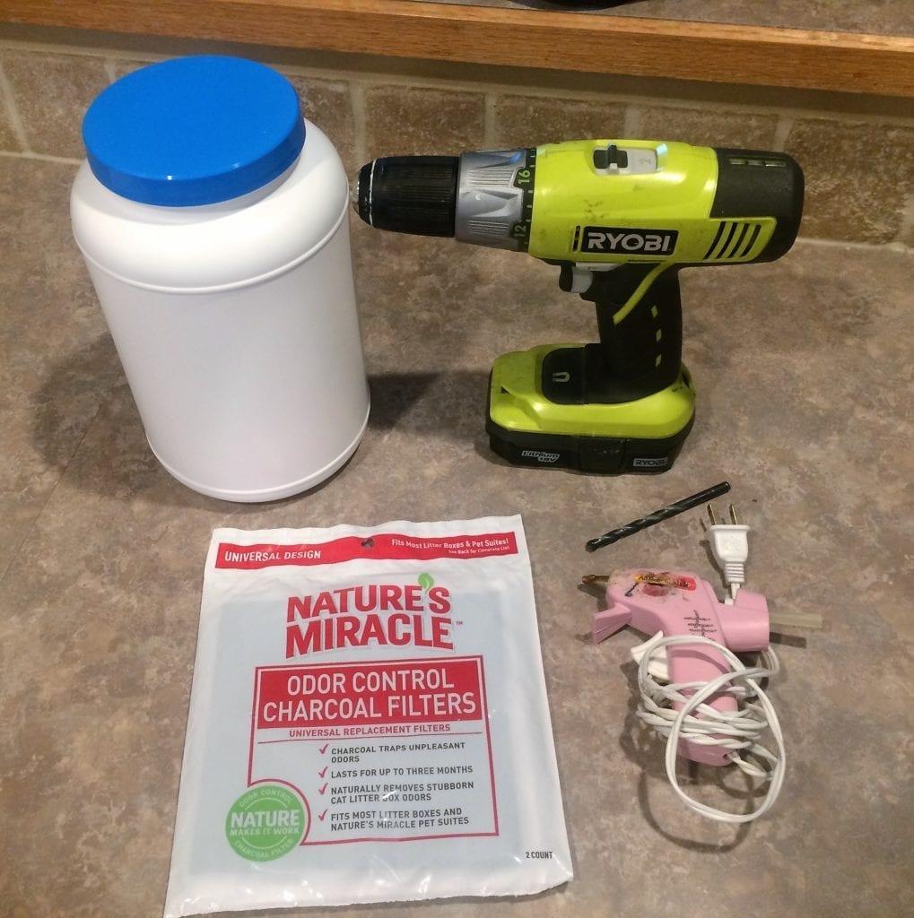 DIY Kitchen Compost Bin, Bucket, Pail, Charcoal Filter