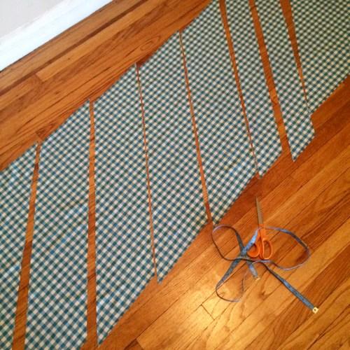 cutting a skirt waistband