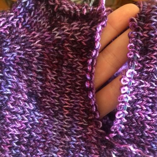 purple knitting