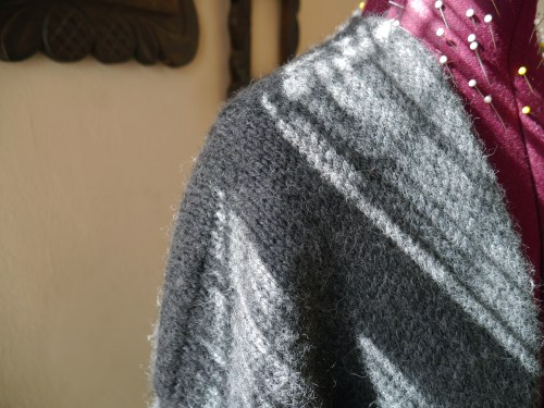 knitted winter coat