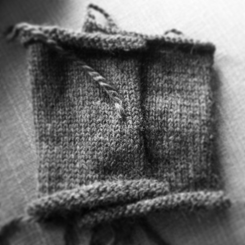 knitting in black and white