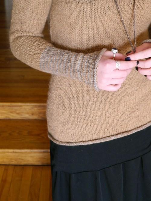 handspun handknit sweater
