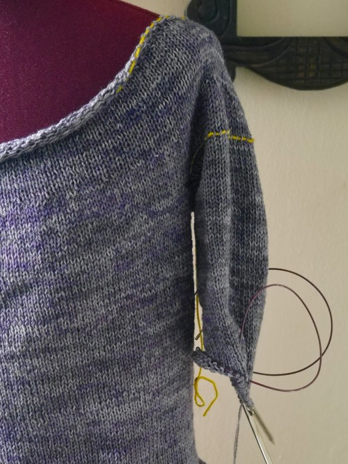 sweater sleeve in progress