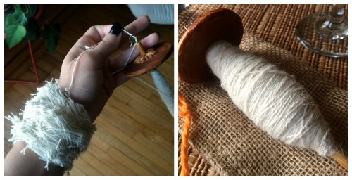 spindle plying collage