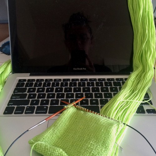 knitting without winding your yarn