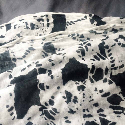 black & white jersey fabric