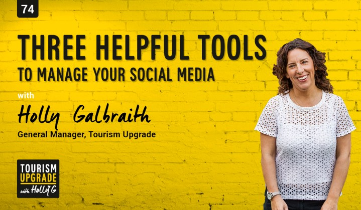 Manage social media for tourism